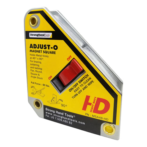New Strong hand Tools MSA46-HD Adjust-O Magnet Square, 4.375-Inch x 3.75-Inch