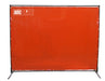 Arc Union Welding Screen With Frame 4x6 Orange 4' wide 6' high