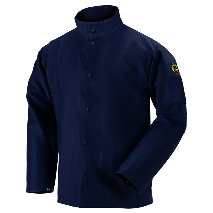 FN9-30C Black Stallion TruGuard™ 200 FR Cotton Welding Jacket, Navy