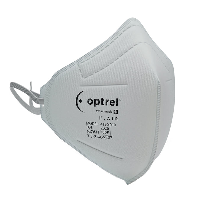 Optrel Niosh N95 Respiratory Mask Optrel P.AIR N95 Swiss Made Respiratory Mask (10 pack)