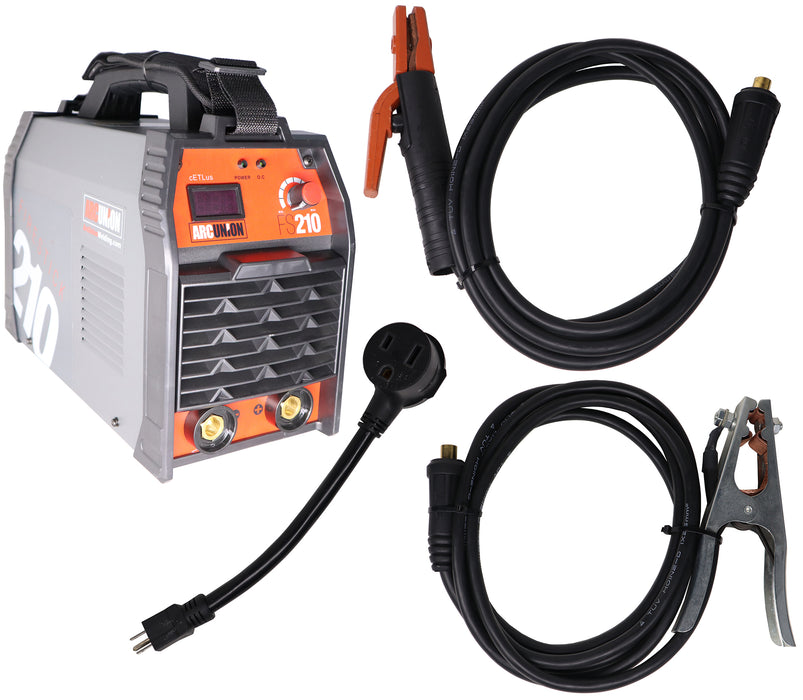 arc union dc 210 dual voltage input IGBT stick welder package 115v 230v