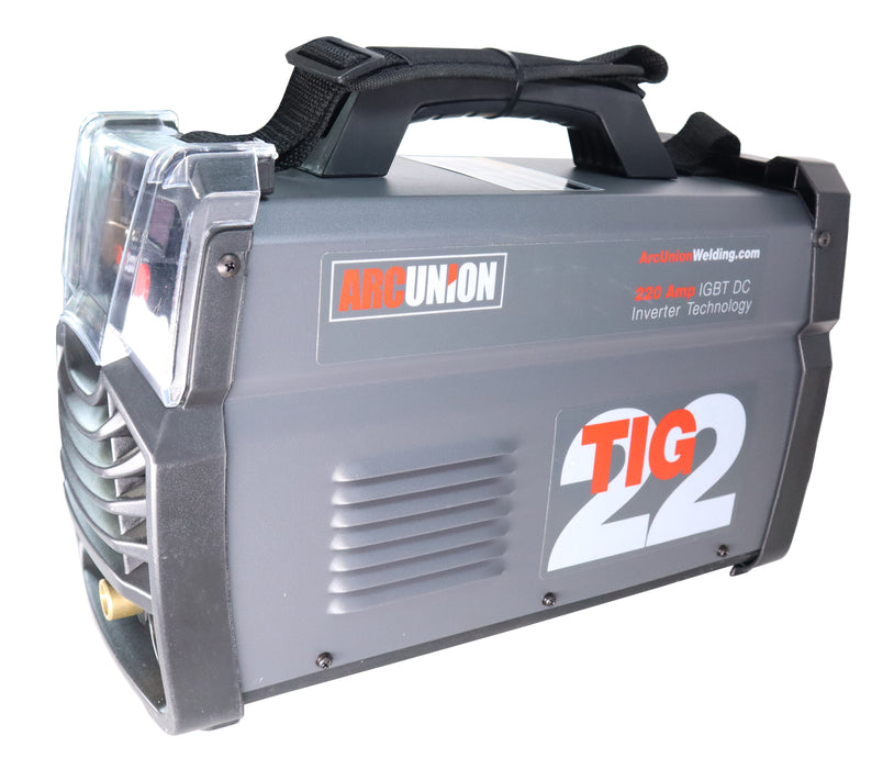 Arc Union Tig 22 220 Amp Dual Voltage DC 2-in-1 Combo stick and tig Welder, 115V & 230V IGBT Welding Machine