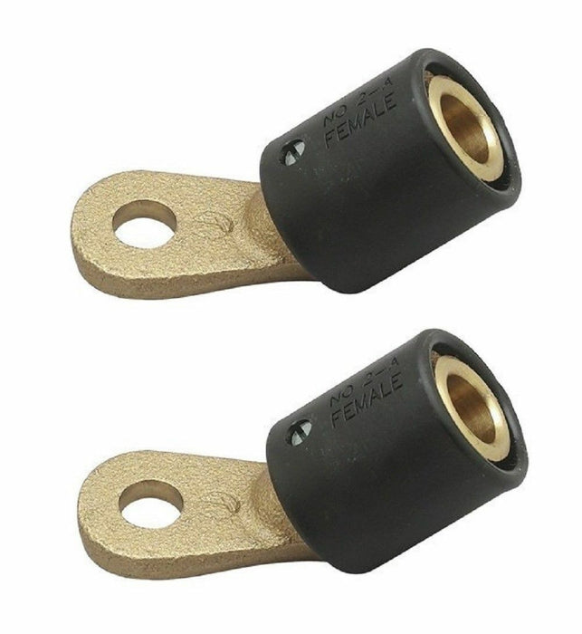 2-AF 45 Deg Angle Female Terminal Connector For 2-MPC LC40 Male Ends Pack of 2