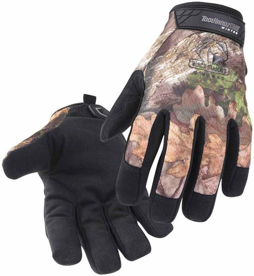 Black Stallion GW4640 Mossy Oak Winter Mechanic's Gloves, Large