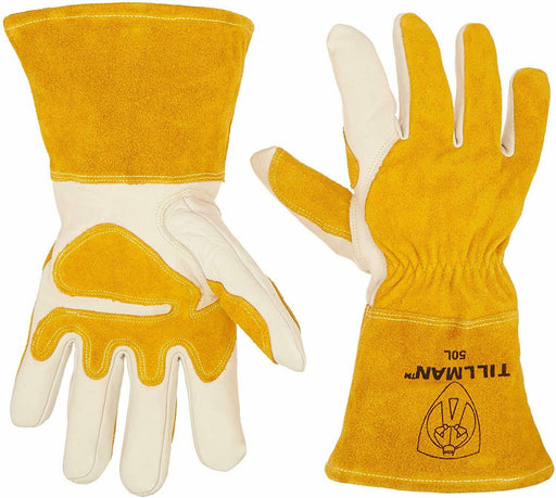 John Tillman and Co 50L Top Grain Leather MIG Gloves SIZE: LARGE