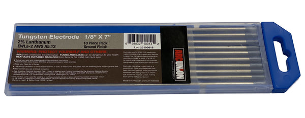 "TIG Welding Tungsten Electrode 2% Lanthanated Blue 1/8""x7"" 10 pack"