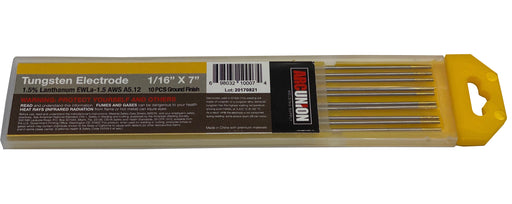 ArcUnion 10-pk TIG Welding Tungsten Electrode 1.5% Lanthanated (Gold) 1/16 x 7""