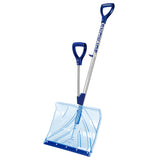 Snow Joe Shovelution SJ-SHLV02 18-IN Strain-Reducing Indestructible Shatter Resistant Polycarbonate Snow Shovel w/ Spring Assisted Handle