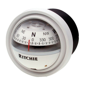 Ritchie V-57W.2 Explorer Compass - Dash Mount - White
