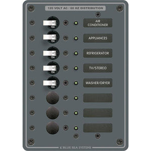 Blue Sea 8059 AC 8 Position Toggle Circuit Breaker Panel