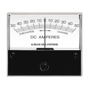 "Blue Sea 8252 DC Zero Center Analog Ammeter - 2-3-4"" Face, 50-0-50 Amperes DC"