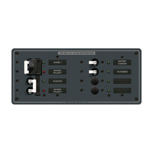 Blue Sea 8499 Breaker Panel - AC 2 Sources + 4 Positions - White