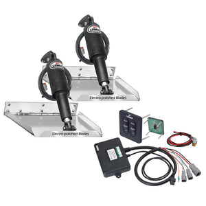 "Lenco 9"" x 9"" Standard Performance Trim Tab Kit w-Standard Tactile Switch Kit 12V"
