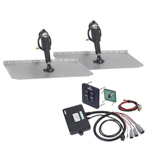 "Lenco 12""x12"" Standard Trim Tab Kit w-Standard Integrated Switch 12V"