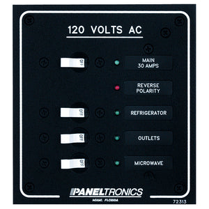 Paneltronics Standard AC 3 Position Breaker Panel & Main w/LEDs
