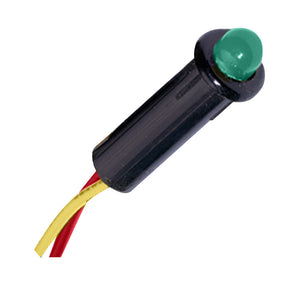 Paneltronics LED Indicator Light - Green - 240 VAC - 1/4""