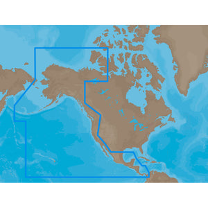 C-MAP MAX NA-M035 - Pacific Coast & Central - SD™ Card