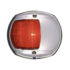 Perko LED Side Light - Red - 12V - Chrome Plated Housing