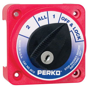 Perko Compact Medium Duty Battery Selector Switch w-Key Lock