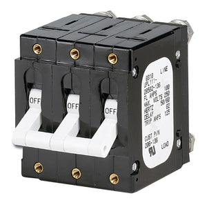 Paneltronics 'C' Frame Magnetic Circuit Breaker - 100 Amp - Triple Pole - White
