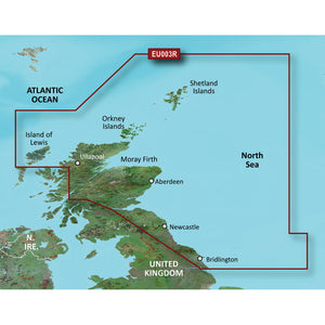 Garmin BlueChart g3 HD - HXEU003R - Great Britain Northeast Coast - microSD/SD