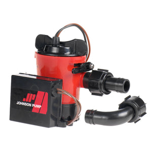 "Johnson Pump 500 GPH Auto Bilge Pump 3/4"" Hose 12V Dura Port"
