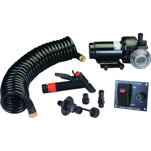 Johnson Pump Aqua Jet 5.2 GPH Washdown Pump Kit w/Hose - 12V