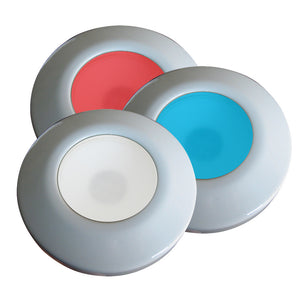 i2Systems Profile P1120 Tri-Light Surface Light - Red, White & Blue - White Finish