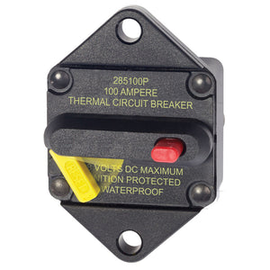 Blue Sea 7087 100 Amp Circuit Breaker Panel Mount 285 Series