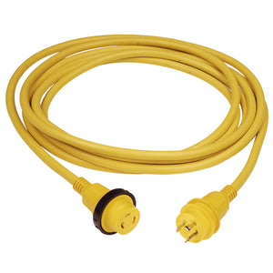 Marinco 30 Amp PowerCord PLUS Cordset w/Power-On LED - Yellow 50ft