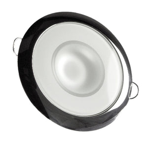 Lumitec Mirage - Flush Mount Down Light - Glass Finish/Polished SS Bezel 2-Color White/Red Dimming
