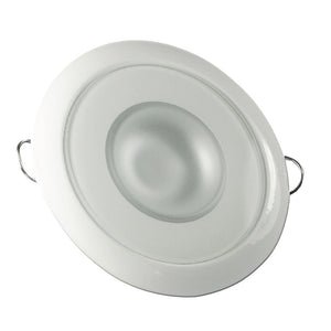 Lumitec Mirage - Flush Mount Down Light - Glass Finish/White Bezel - 4-Color White/Red/Blue/Purple Non-Dimming