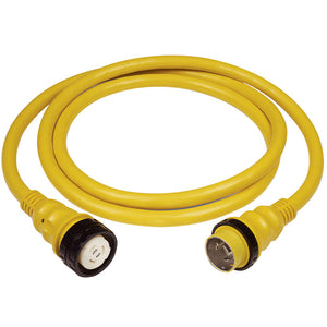 Marinco 50Amp 125-250V Shore Power Cable - 25' - Yellow