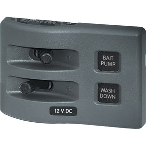 Blue Sea 4303 WeatherDeck® 12V DC Waterproof Switch Panel - 2 Position