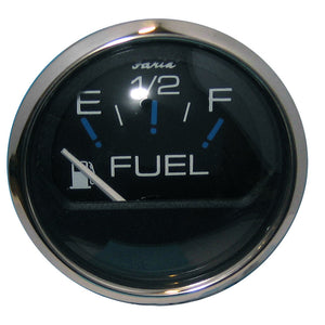 "Faria Chesapeake Black SS 2"" Fuel Level Gauge (E-1/2-F)"