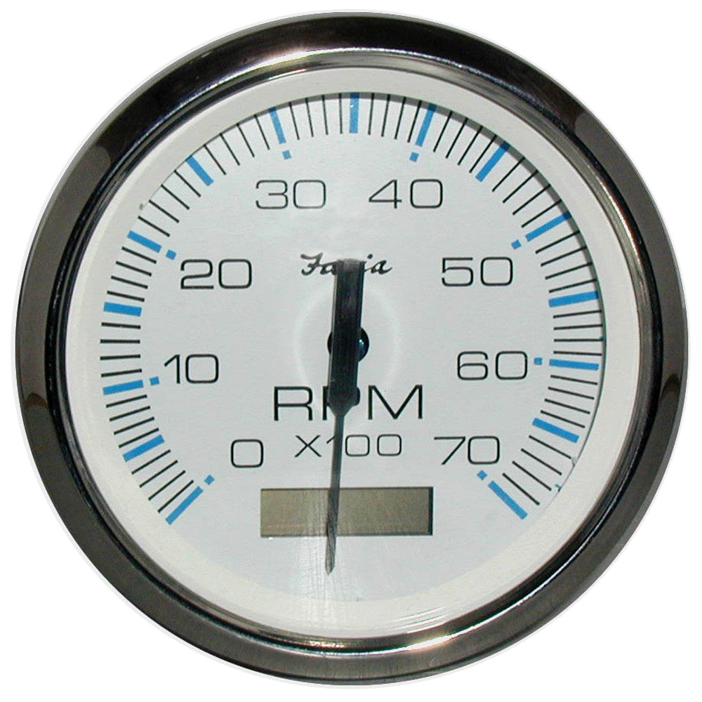 "Faria Chesapeake White SS 4"" Tachometer w/Hourmeter - 7,000 RPM (Gas -  Outboard)"