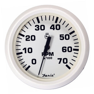 "Faria Dress White 4"" Tachometer - 7,000 RPM (Gas - All Outboards)"