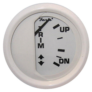 "Faria Dress White 2"" Trim Gauge (Mercury / Mariner / Mercruiser / Volvo DP / Yamaha-2001 and newer)"