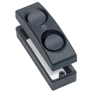Marinco Contour 1100 Series Double Interior Switch - On/Off - Black