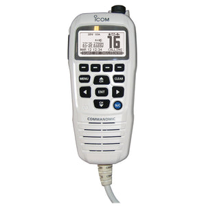 Icom COMMANDMICIV w-White BlackLit LCD - Super White