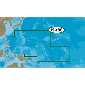 C-MAP MAX-N+ PC-Y203 - Carolinas, Kiribati, Marshall, & Marinas