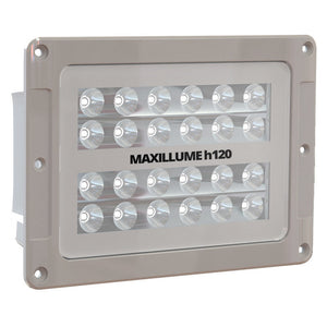 Lumitec Maxillume h120 - Flush Mount Flood Light - White Housing - White Dimming