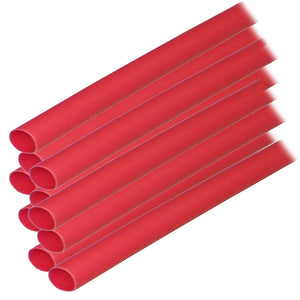 "Ancor Adhesive Lined Heat Shrink Tubing (ALT) - 1-4"" x 6"" - 10-Pack - Red"