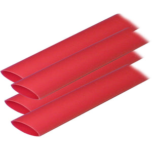 "Ancor Adhesive Lined Heat Shrink Tubing (ALT) - 3-4"" x 12"" - 4-Pack - Red"