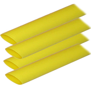 "Ancor Adhesive Lined Heat Shrink Tubing (ALT) - 3/4"" x 12"" - 4-Pack - Yellow"