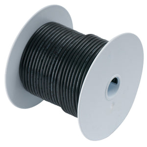 Ancor Black 18 AWG Tinned Copper Wire - 100'