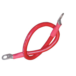 "Ancor Battery Cable Assembly, 4 AWG (21mm²) Wire, 3/8"" (9.5mm) Stud, Red - 48"" (121.9cm)"