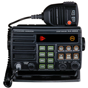 Standard Horizon VLH-3000A 30W Dual Zone PA-Loud Hailer-Fog w-Listen Back & 2 Optional Intercom Stations