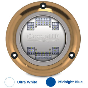 OceanLED Sport S3124s Underwater LED Light - Ultra White-Midnight Blue