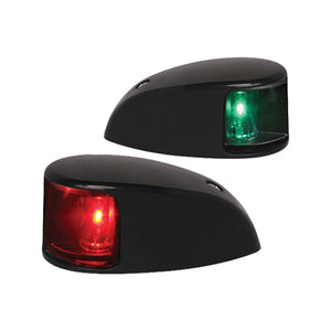Hella Marine NaviLED Deck Mount Port & Starboard Pair - 2nm - Colored Lens-Black Housing